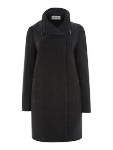 Cocoon Collar Coat