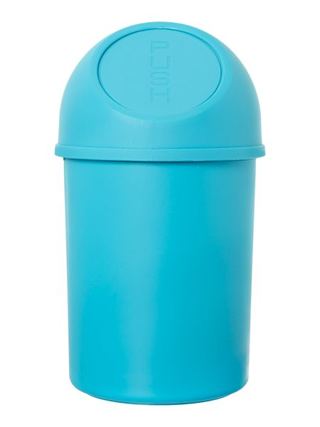 Linea Push Top Bin in Blue