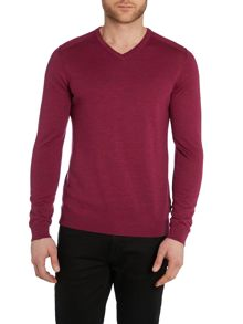 Merino regular fit v neck jumper