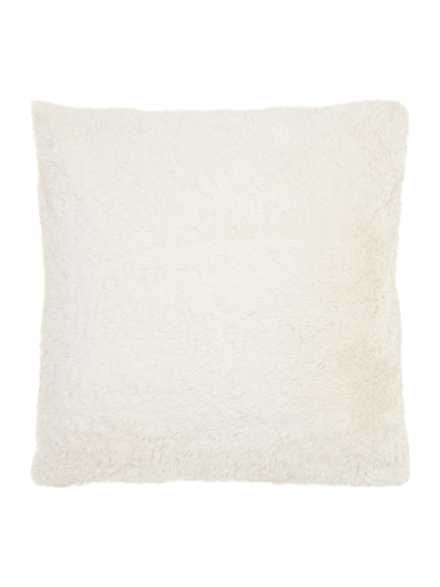 Cream faux fur cushion