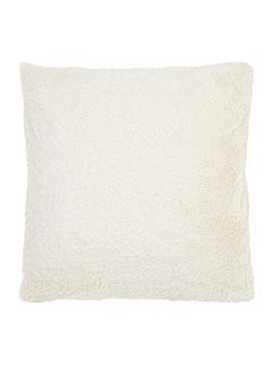 Linea Cream faux fur cushion