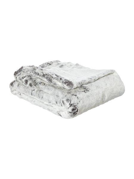 Linea Grey faux fur throw