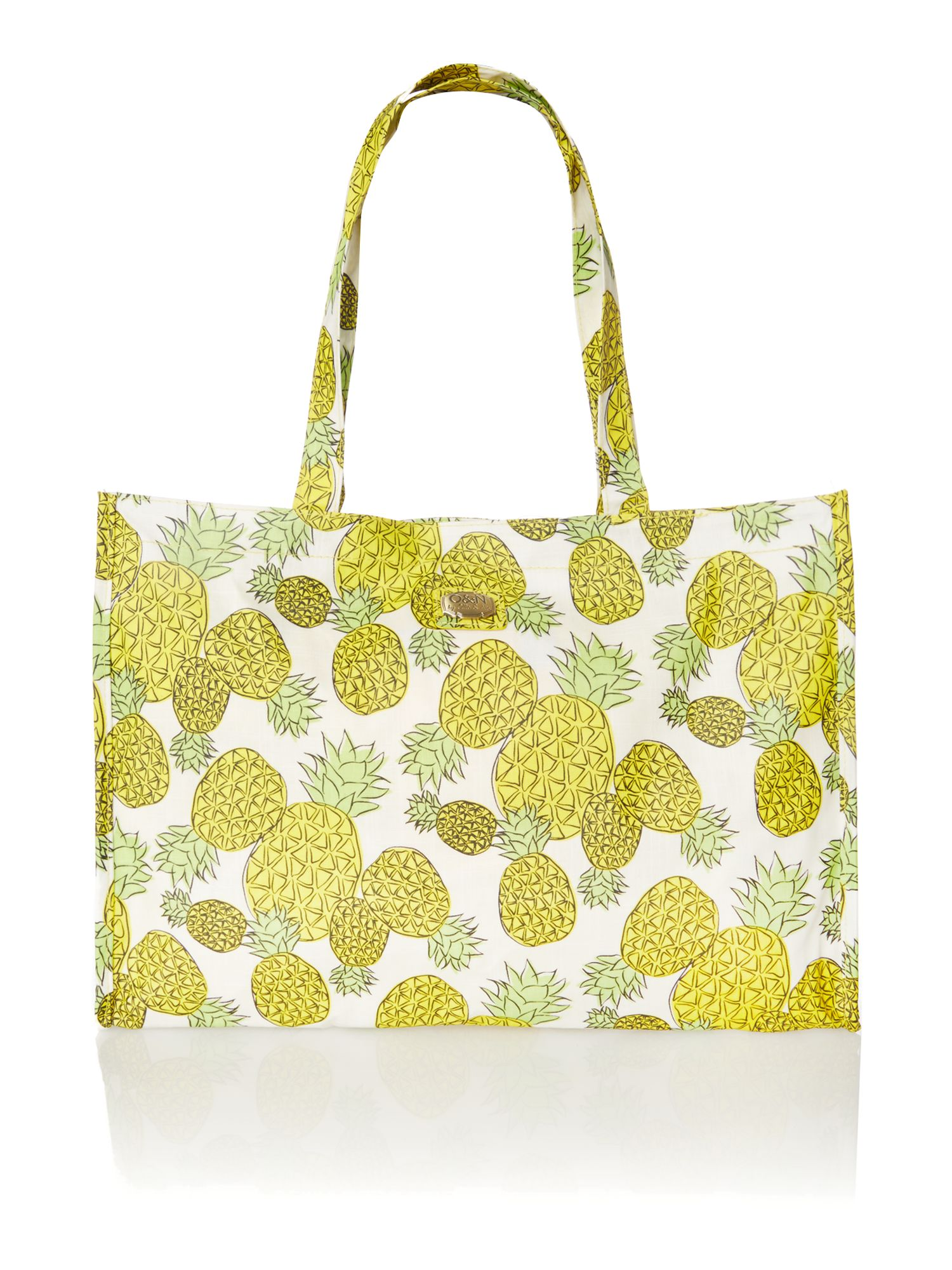 Colada yellow print tote bag