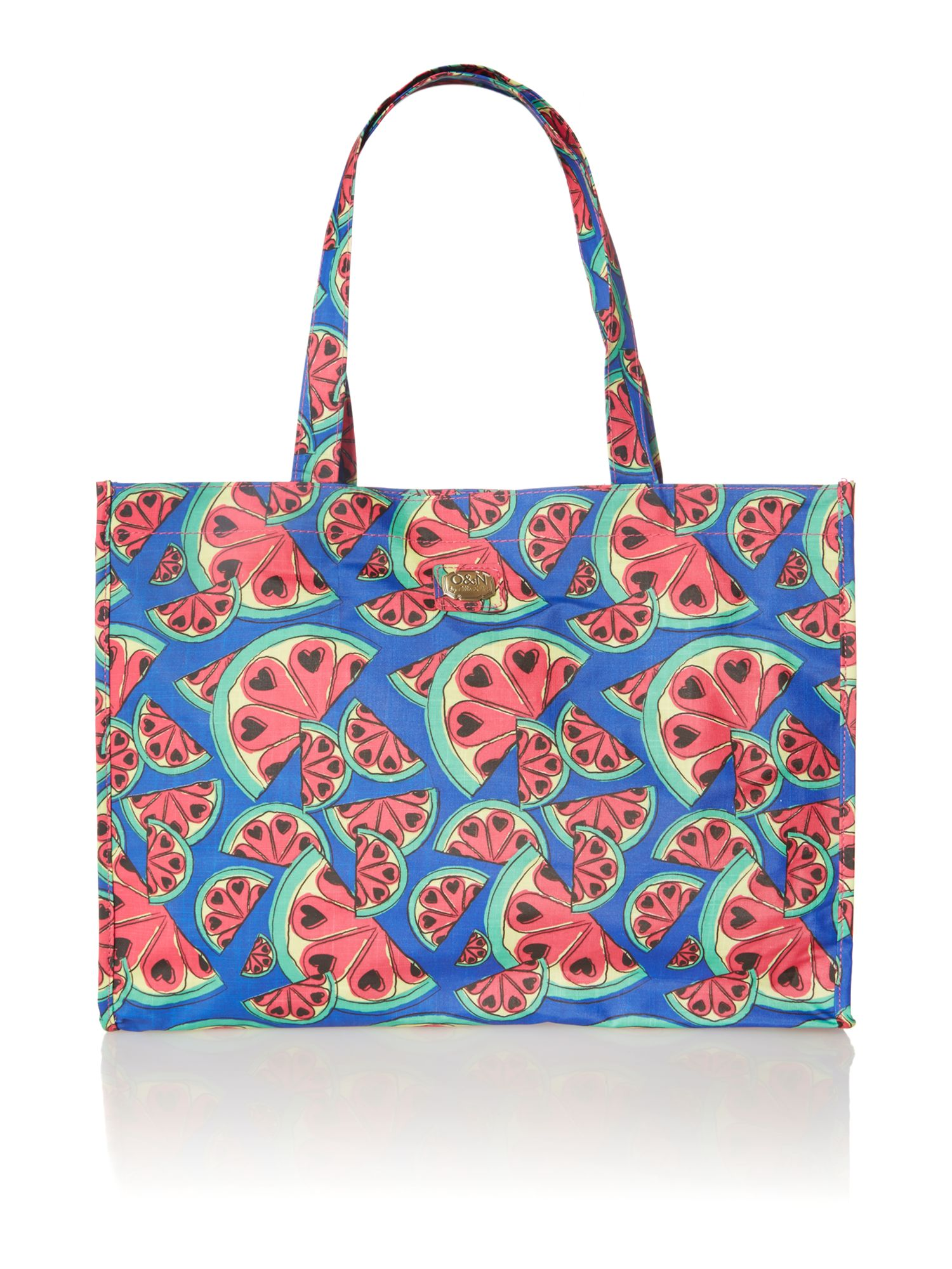 Colada blue print tote bag