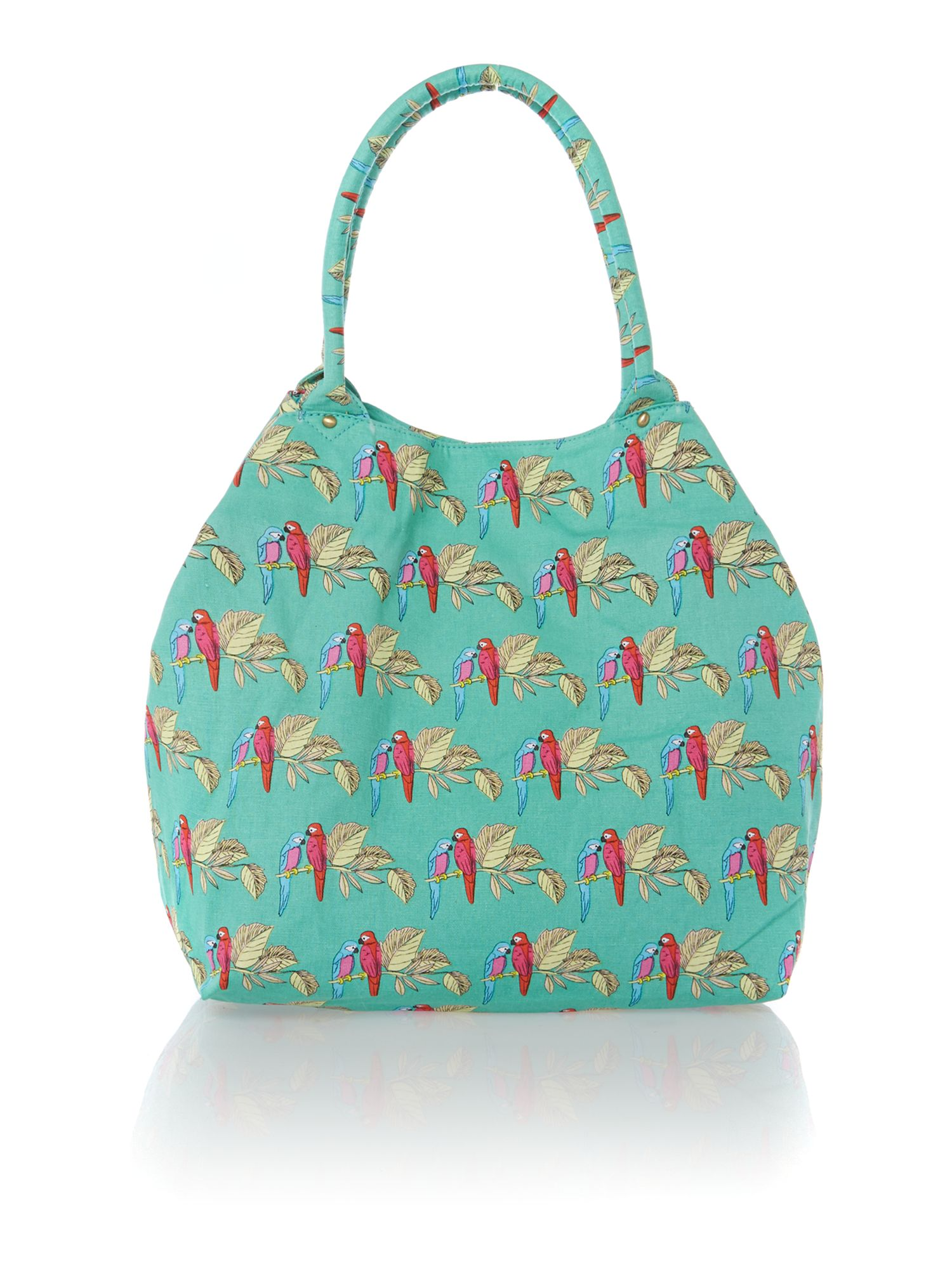 Colada green print tote bag