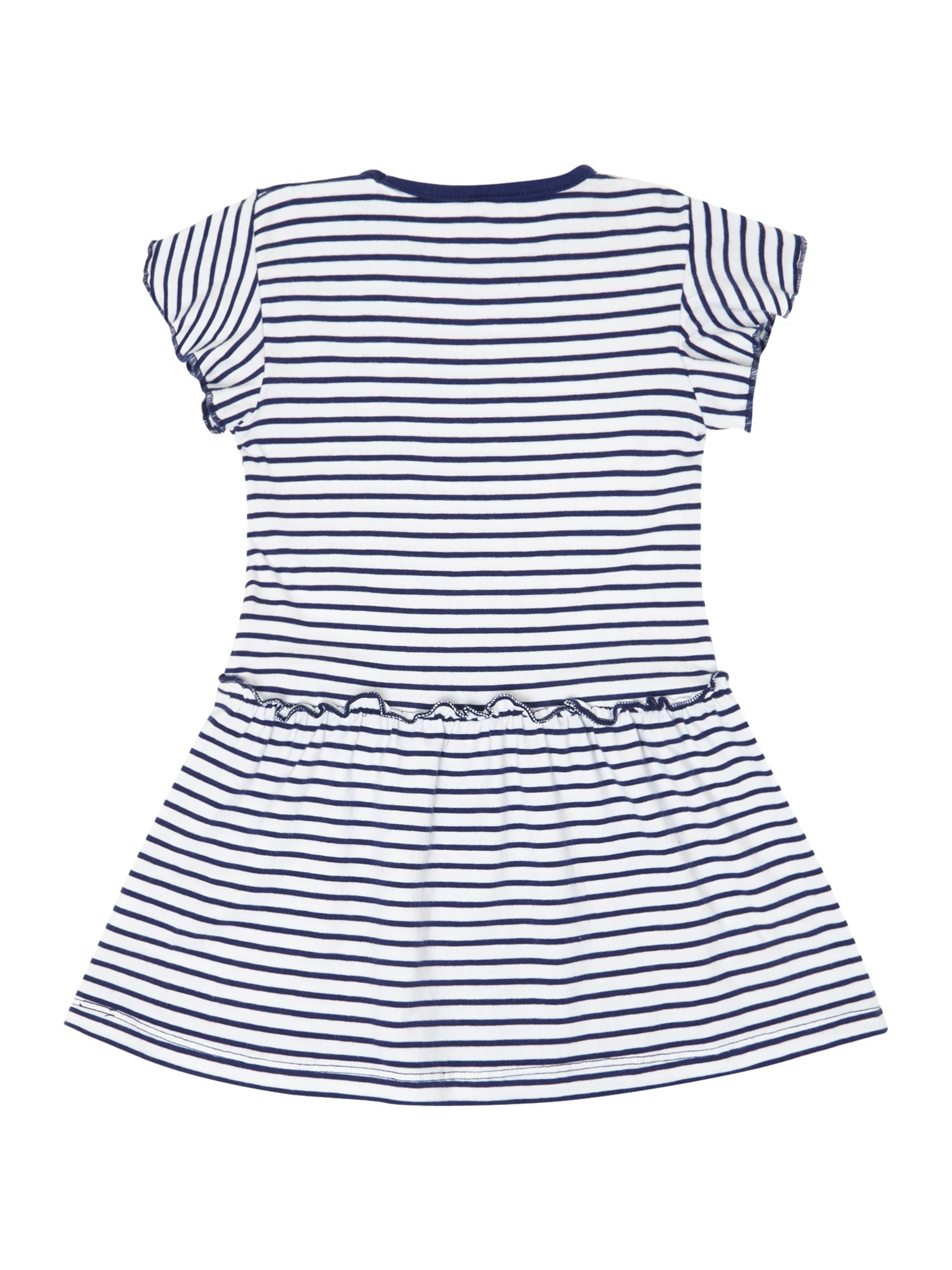 Girls striped dress with frill sleeves