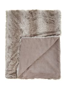 Striped faux fur bedspread