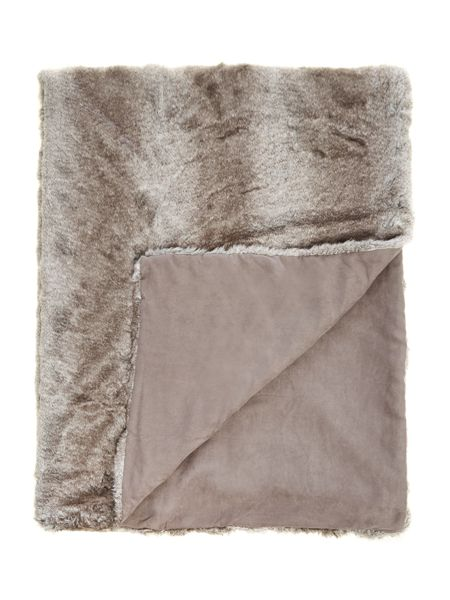 Casa Couture Striped faux fur bedspread