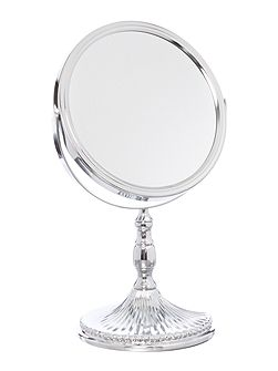 Fluted Base Magnifying Mirror
