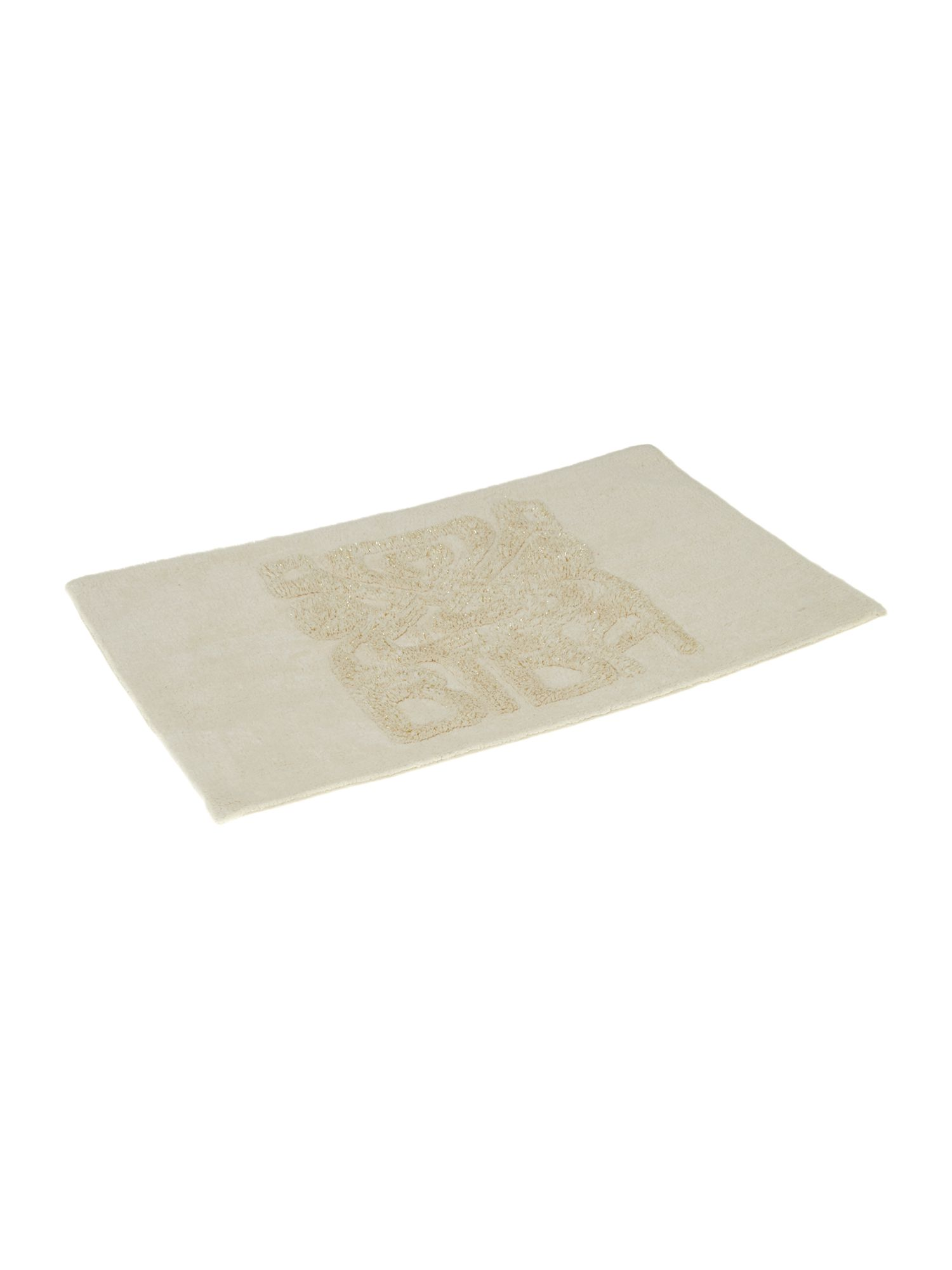 Logo cream bathmat