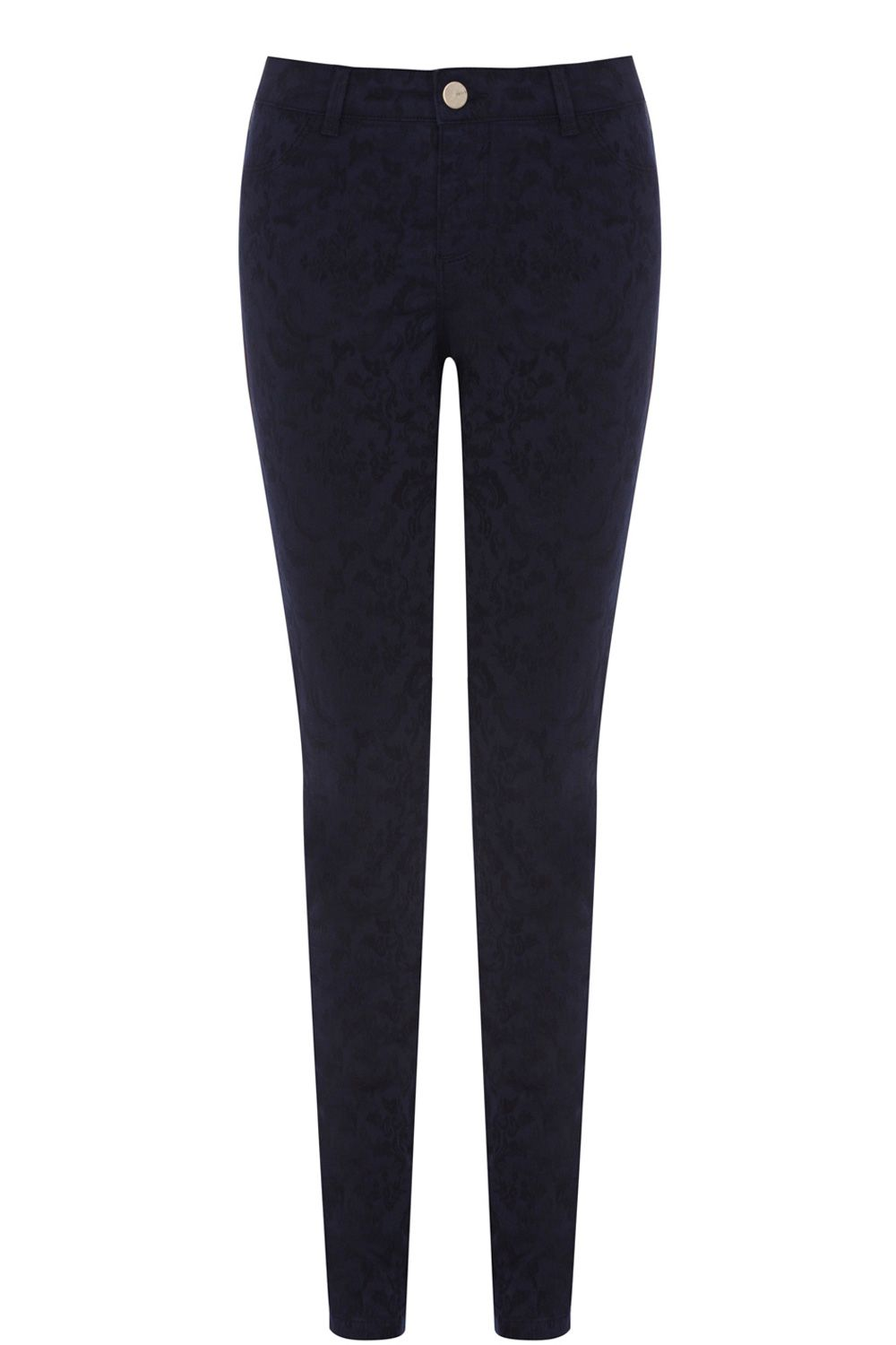 Coloured jacquard crop jeans