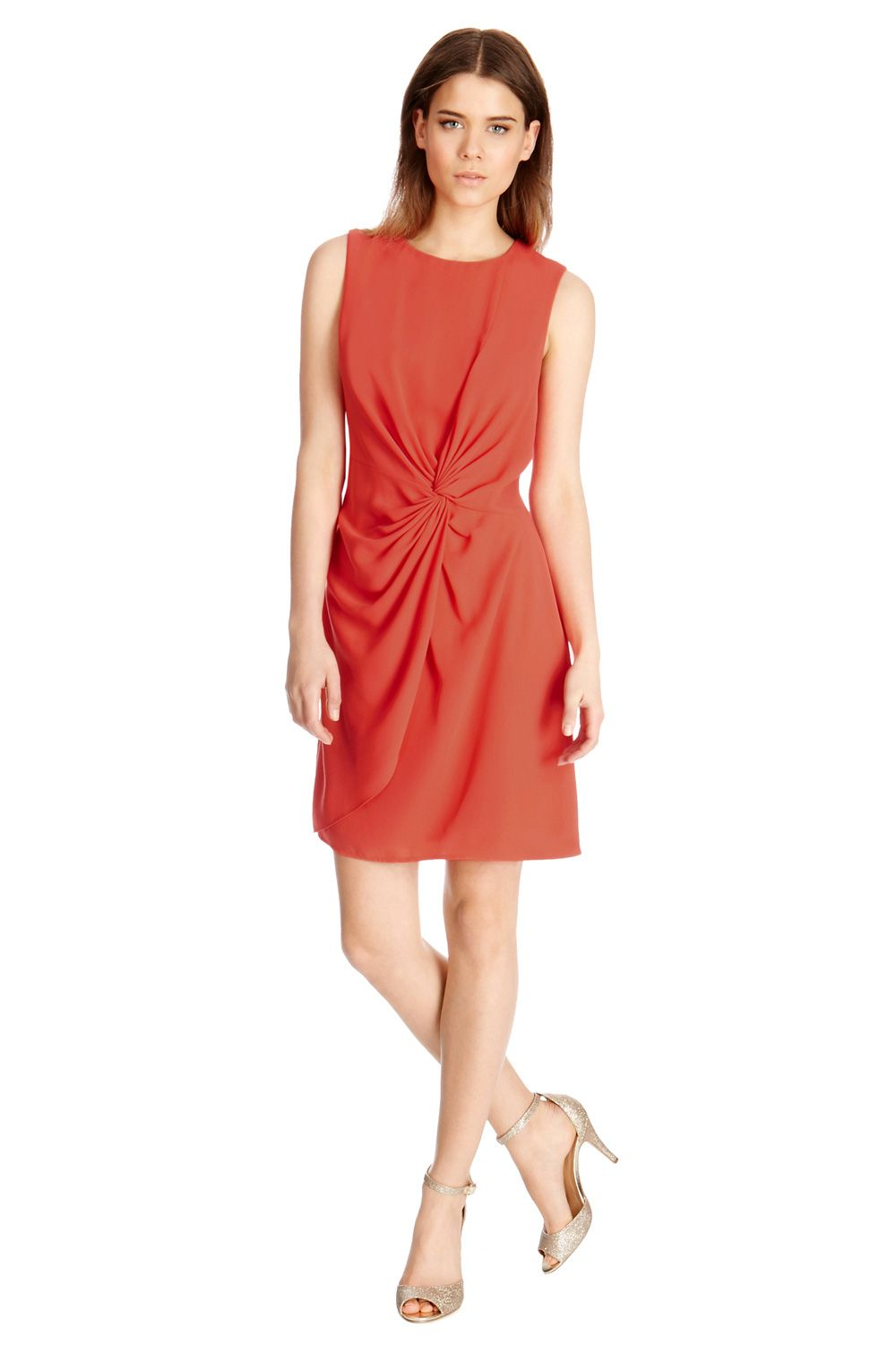 Twist knot crepe dress