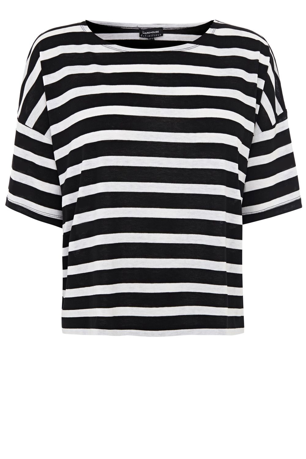 Stripe half sleeve t-shirt