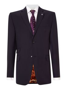Banyan sterling regular fit pin dot suit jacket