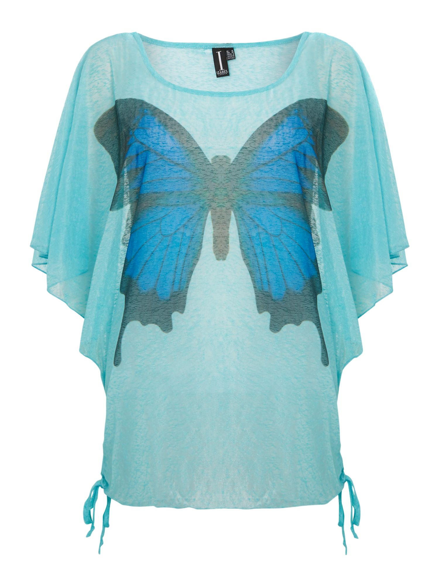 Angel wing butterfly top