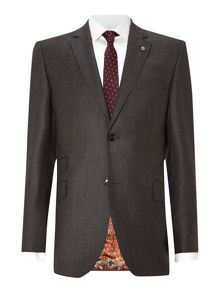 Belsut debonair slim fit flannel suit jacket