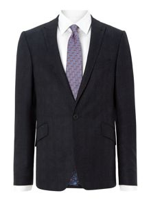 Restat debonair slim fit subtle check suit jacket