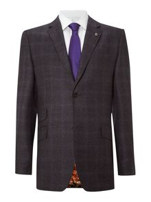 Lashup sterling regular fit check suit jacket