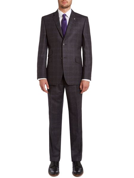 Ted Baker Lashup sterling regular fit check suit jacket