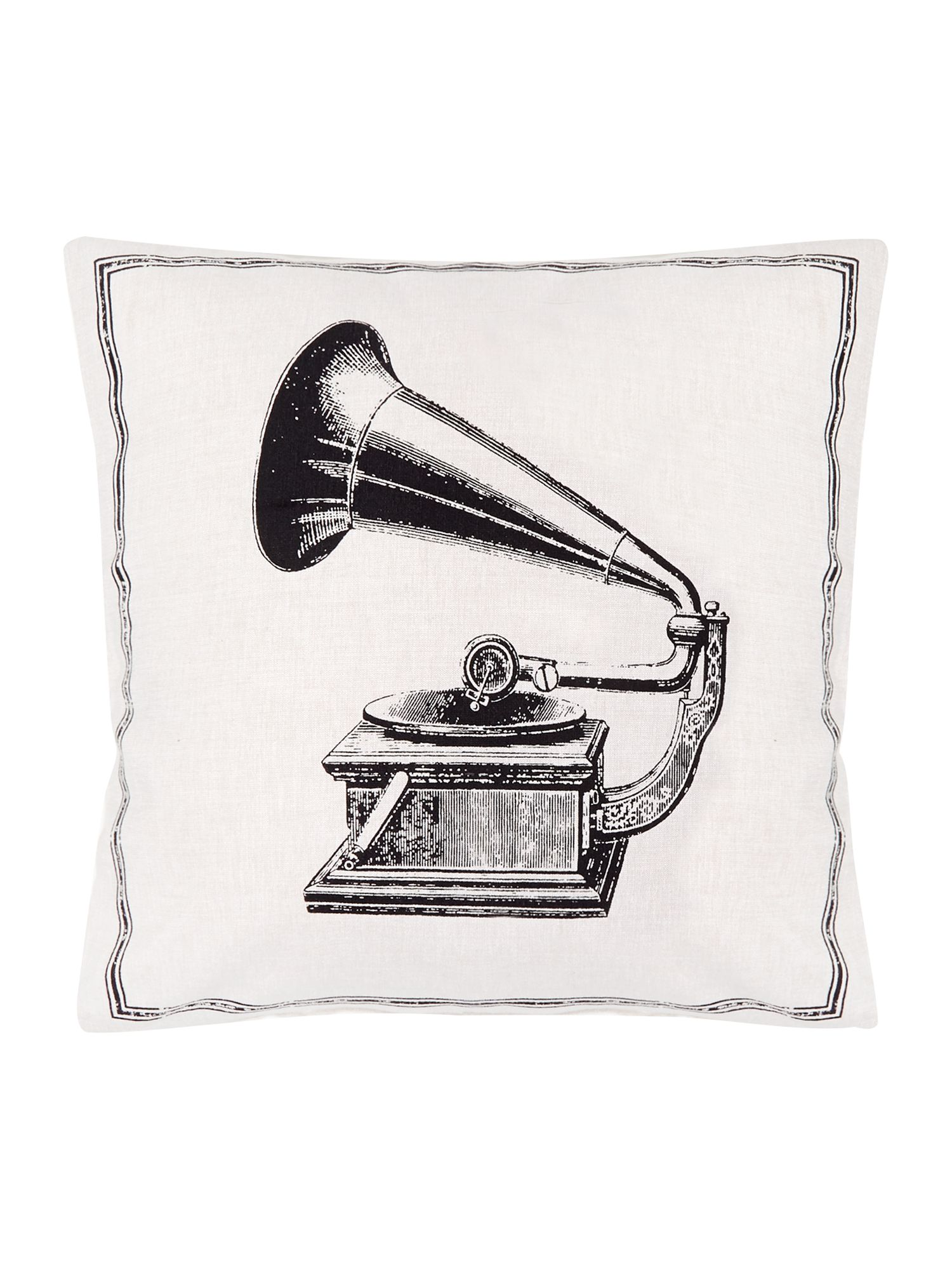 Gramophone icon cushion