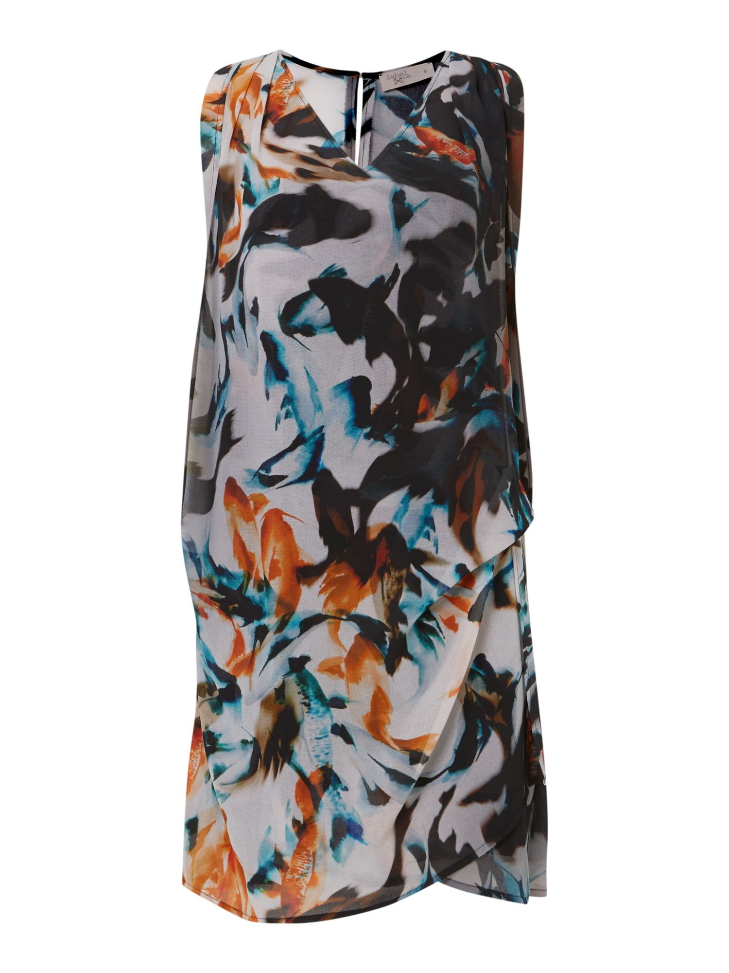 Fish print hitch dress
