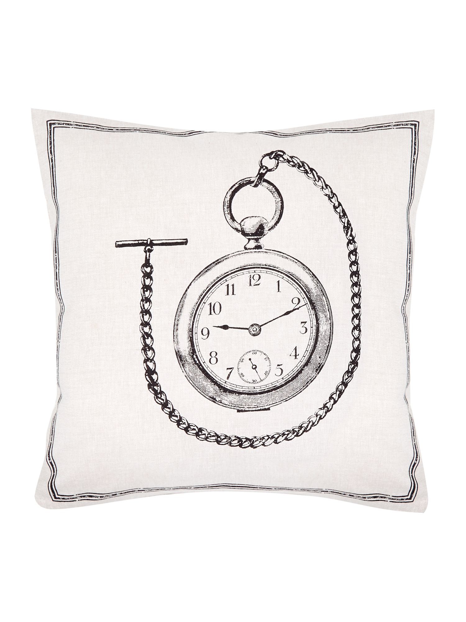 Pocket watch icon cushion