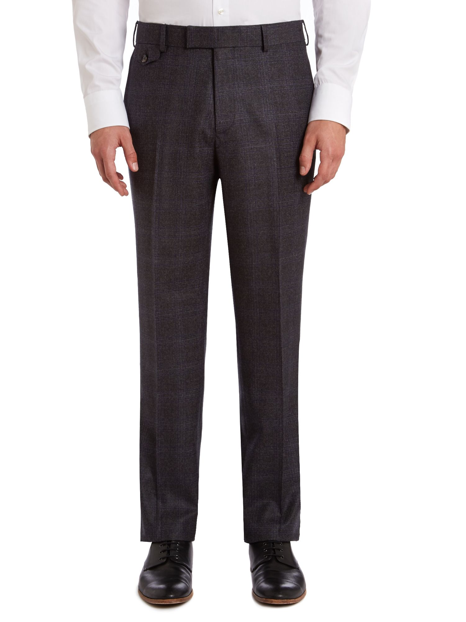 Lashup sterling regular fit check suit trousers