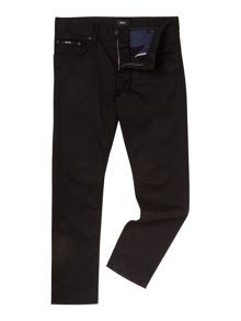 Maine black rinsed wash straight leg jean