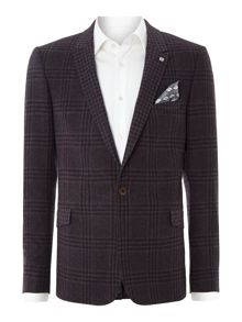 Renjac slim fit check jacket