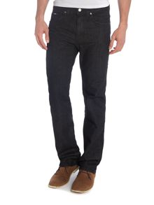 Kansas black rinse wash straight leg jean