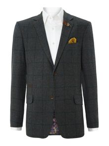 Caldew regular fit window pane check jacket