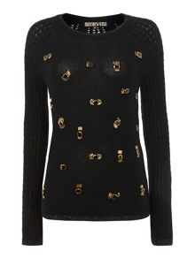 Jewelled Stitch Knit