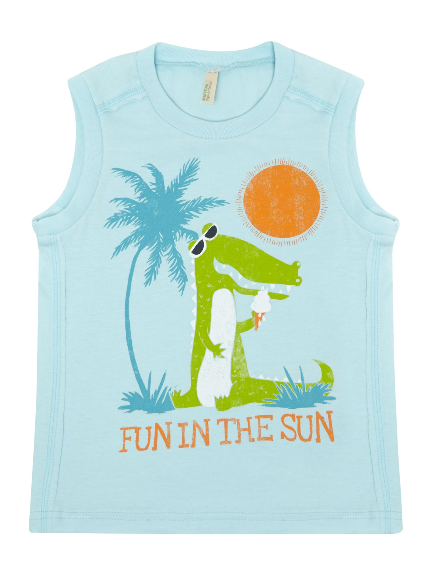 Boys crocodile print vest