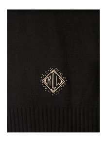 Deco diamond monogram scarf
