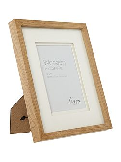 Linea Pale wood photo frame 5 x 7