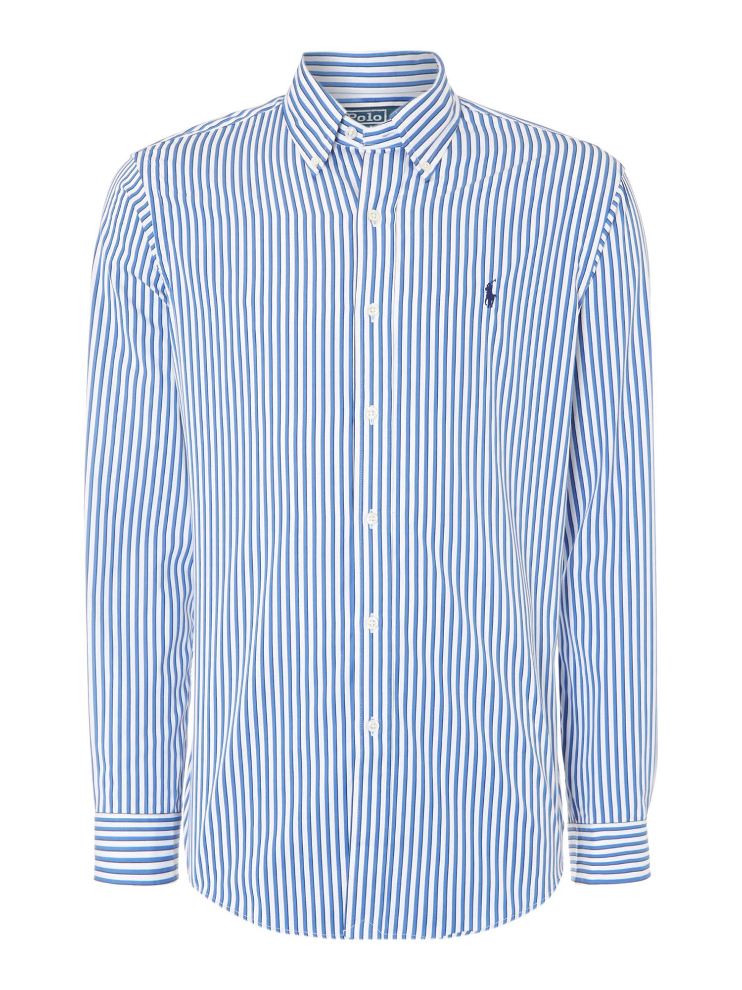 Long sleeve stripe poplin shirt