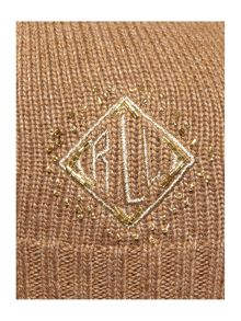 Deco diamond monogram beanie