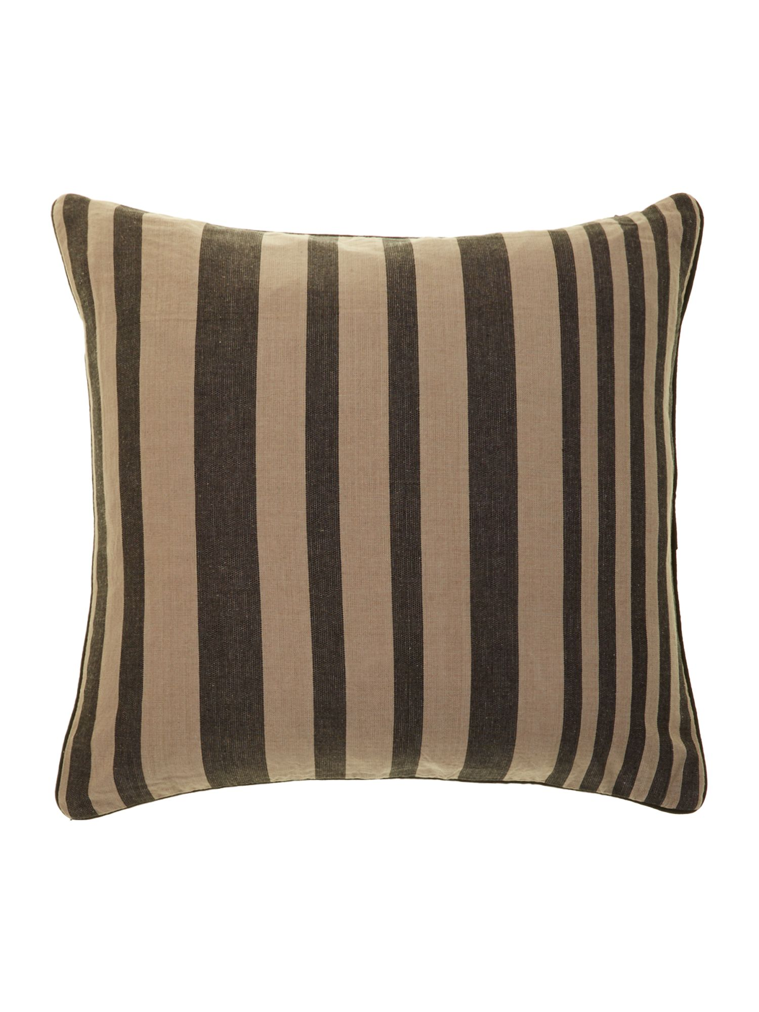 Lawson cushion in wheat stripe