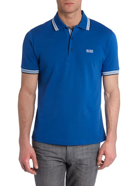 Hugo Boss Paddy Regular Fit Tipped Logo Polo Shirt