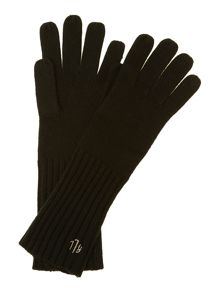 Deco diamond monogram glove