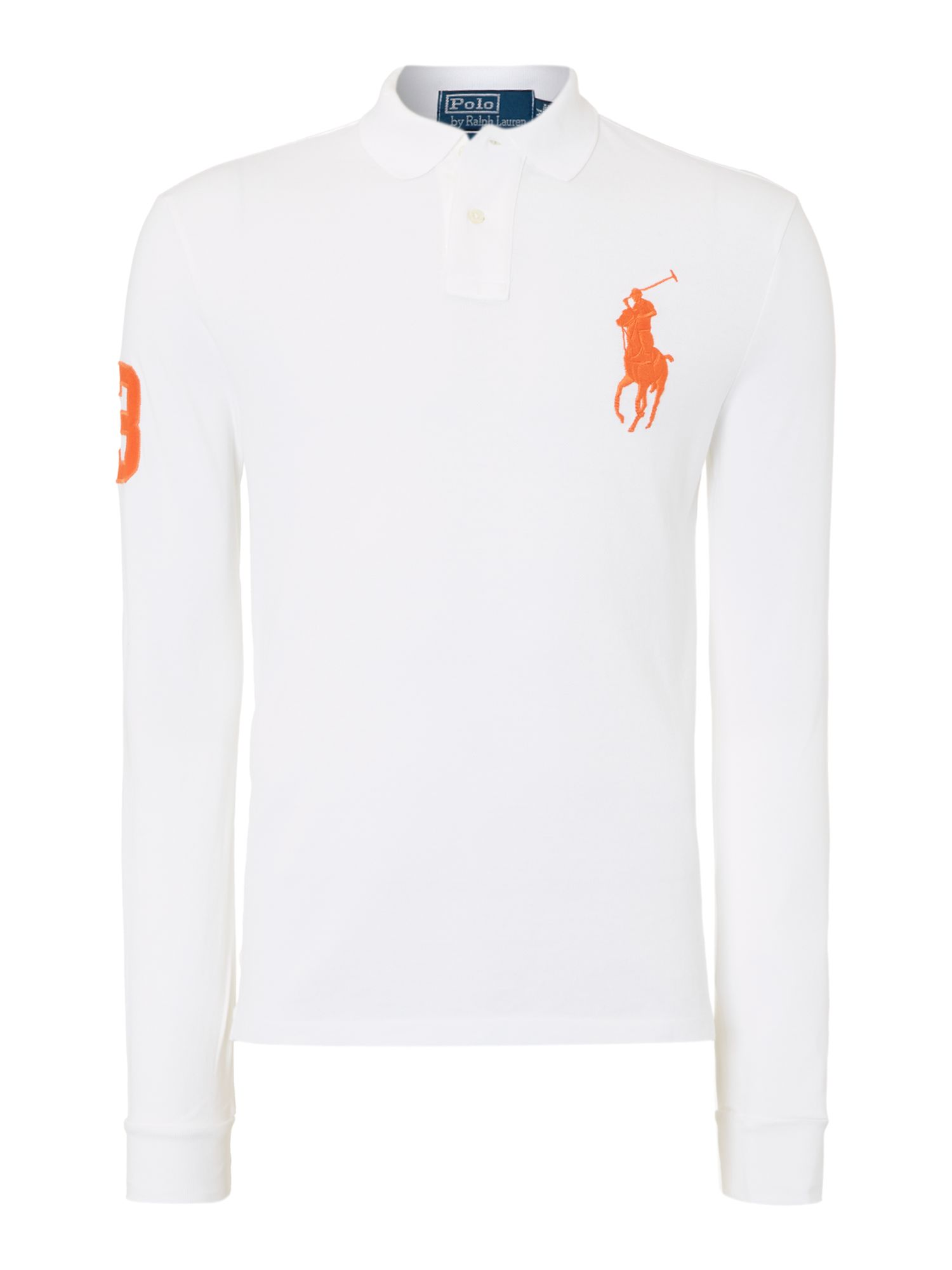 Custom fit long sleeve polo shirt