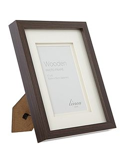 Dark wood photo frame 4 x 6