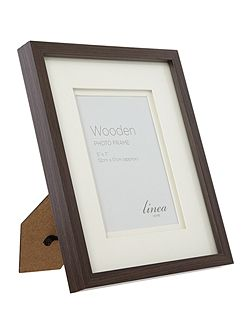 Dark wood photo frame 5 x 7