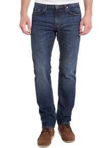 Maine deep used wash straight leg jean