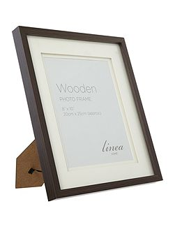 Dark wood photo frame 8 x 10