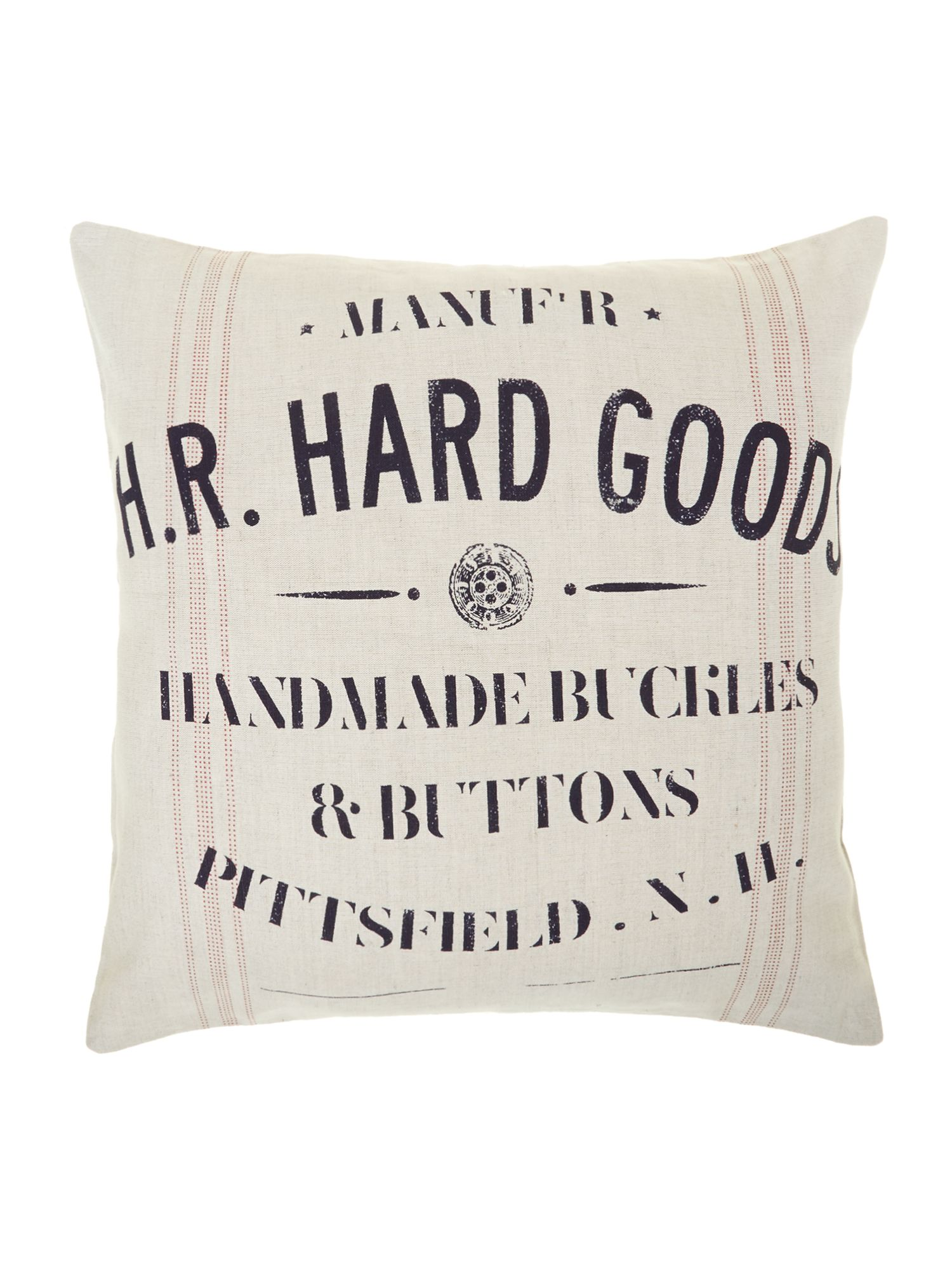 Handmade buttons advertisement cushion