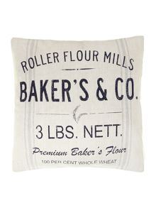 Bakers and Co advertisement cushion