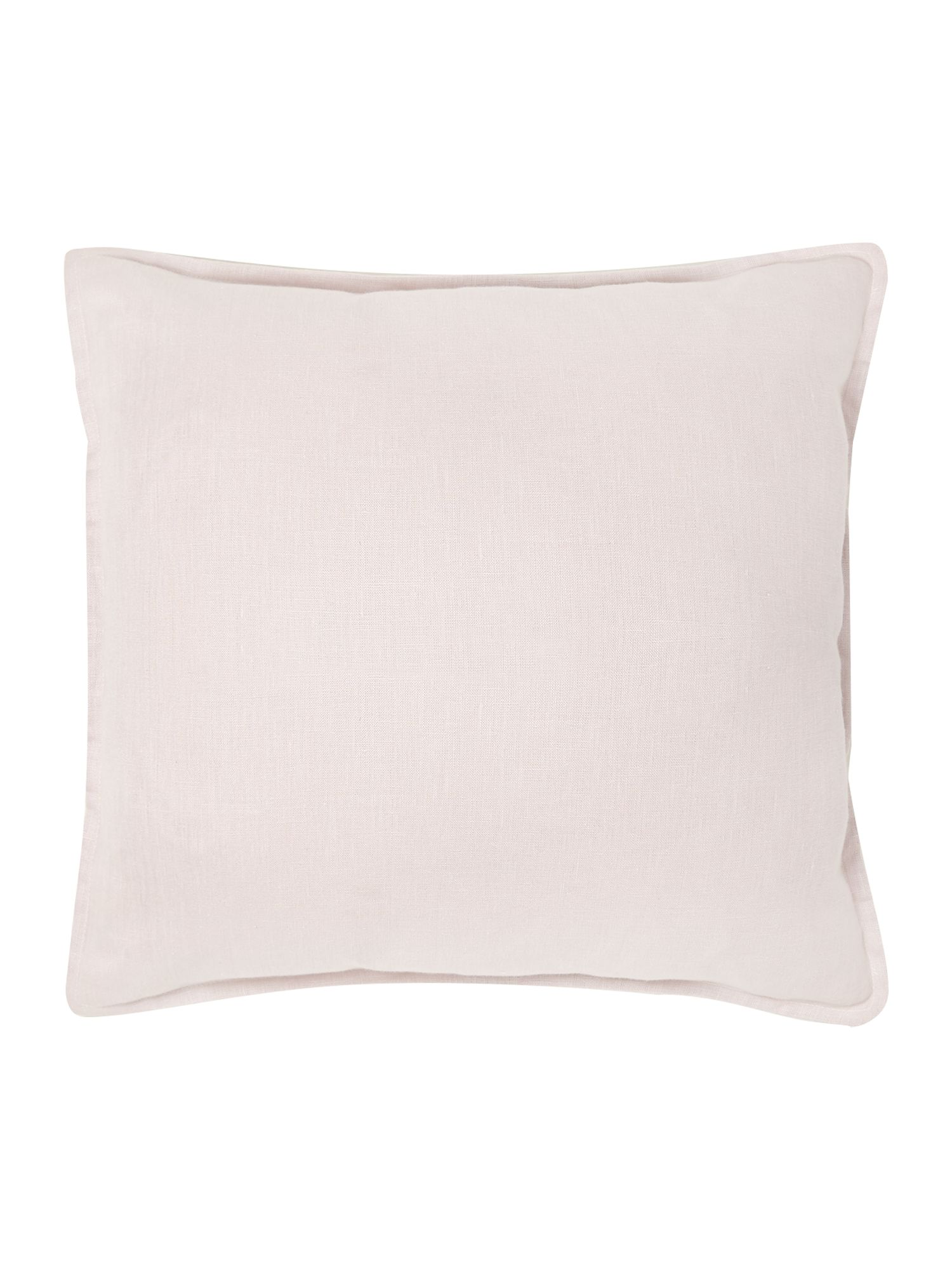French print linen cushion, pink