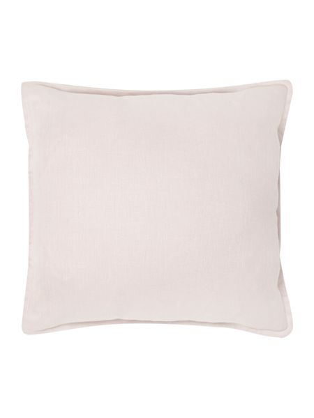 Linea French print linen cushion, pink