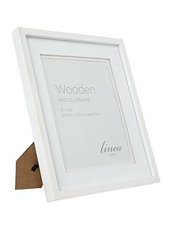 White wood photo frame 8 x 10